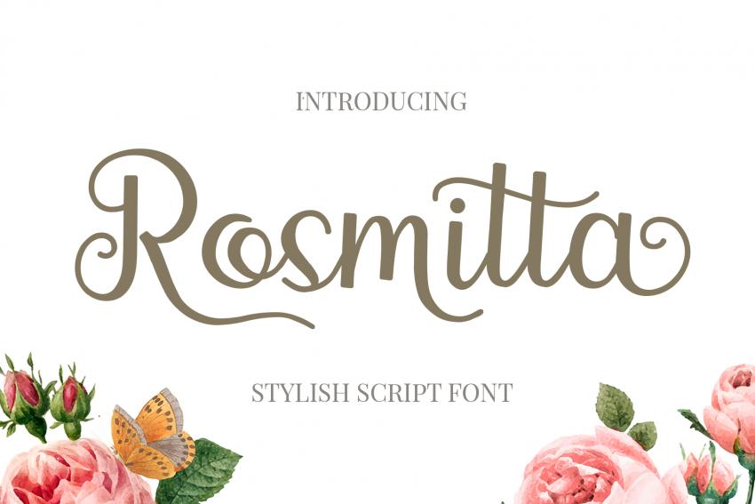 rosmitta script font