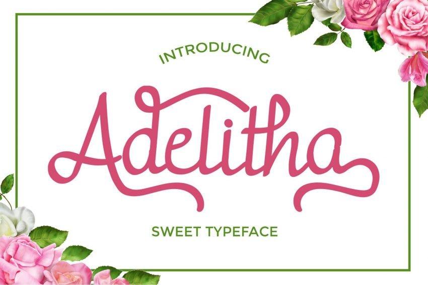 adelitha script font preview