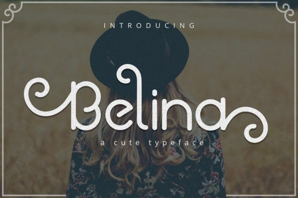 belina font preview