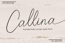 callina handwritten font