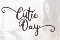 cuttie day wedding script font