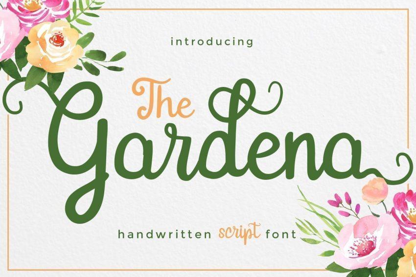 gardena script font