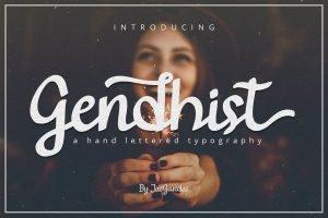 gendhist main font preview