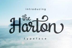 harton logo font preview