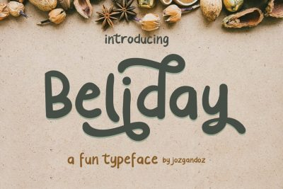 Beliday cute display font