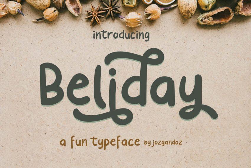 Beliday cute display font