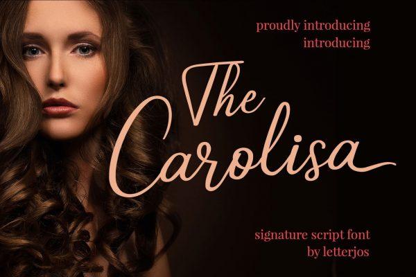 Carolisa elegant signature font
