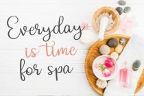 relista script font for spa poster