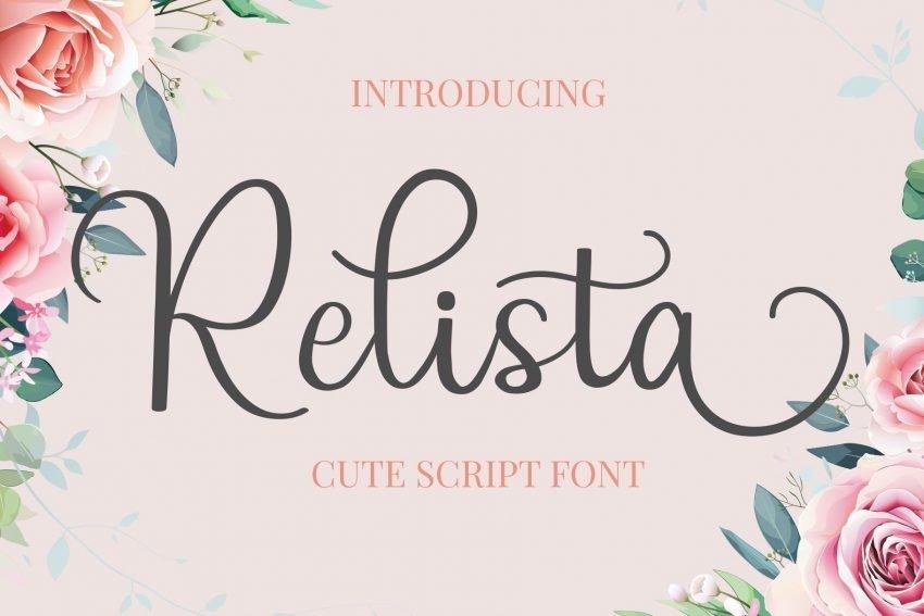 relista script font