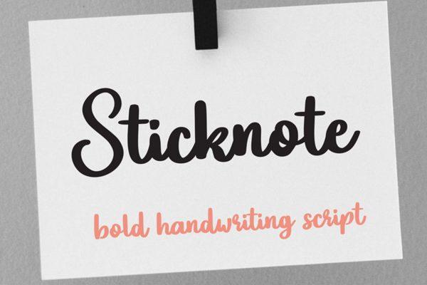 Sticknote Bold Script Font