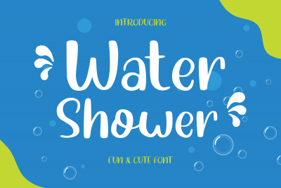 water shower cute children font