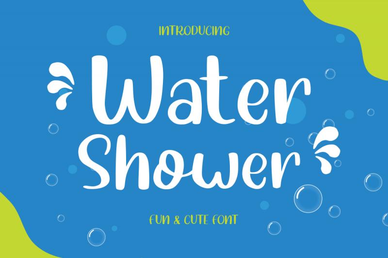 water shower cute children font