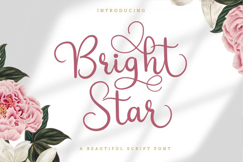 bright star beautiful script font