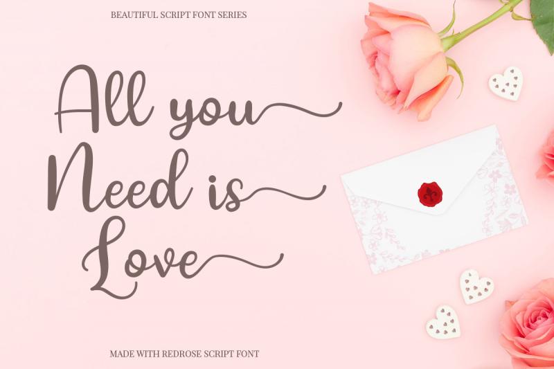 red rose romantic script font 4
