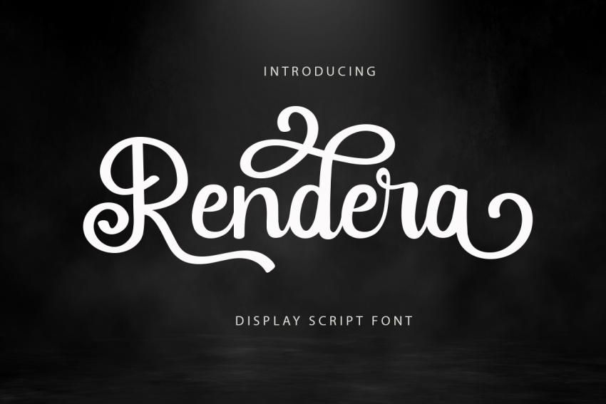 Rendera-Display-Script-Font