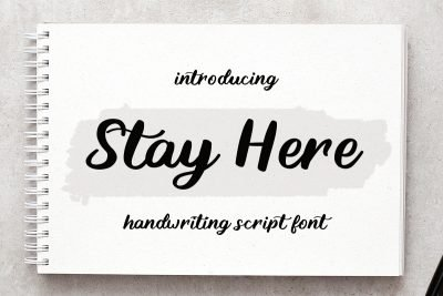 stay here handwritten font